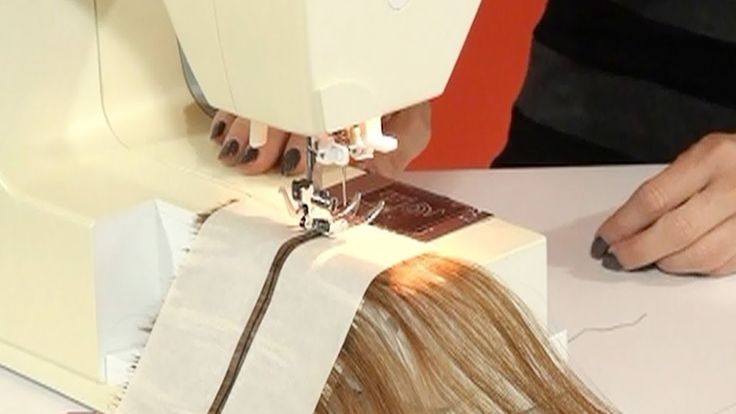 Need to remember this! How to make hair wefts using a sewing machine.