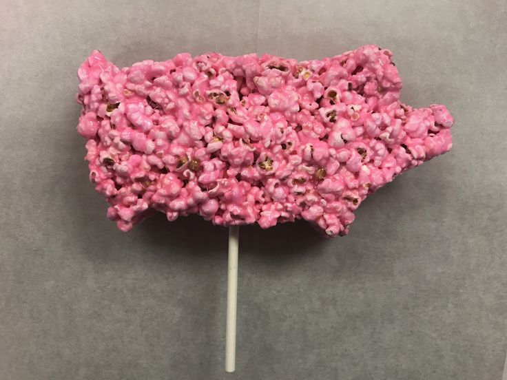 Popcorn Pig: Pink marshmallow based popcorn is shaped and molded to make a friendly creation of a pink pig. This friendly snack can be found at the Snappy Popcorn stand.