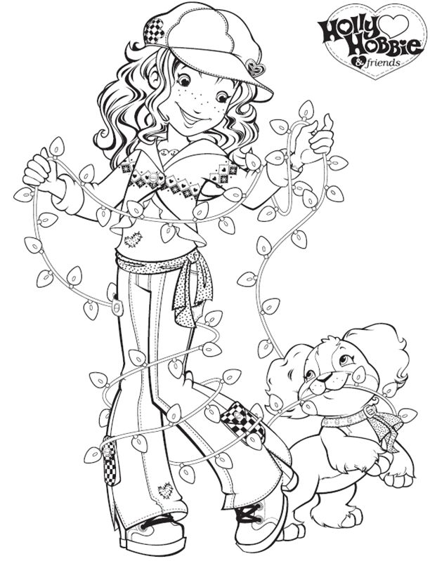 50 best holly hobbie and friends coloring pages images for Holly hobbie coloring pages