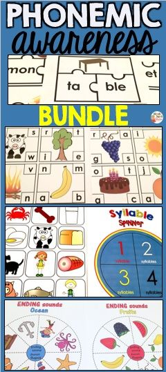 Are you looking for fun Phonemic Awareness Activities? I've got you covered! This packet has everything from beginning sounds to rhyming and syllables.