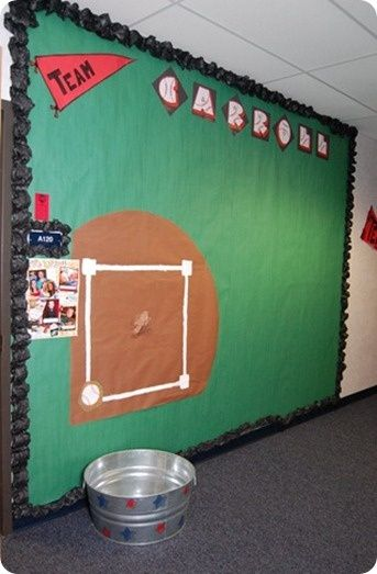 pictures of sports themed classrooms | sports theme / Baseball Bulletin Board for a hallway or classroom!