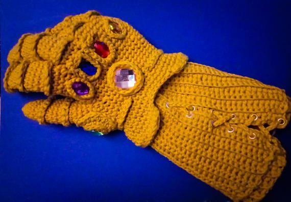 Infinity War !!! Guantelete of Thanos in crochet !!! amigurumi toy ... | 396x570