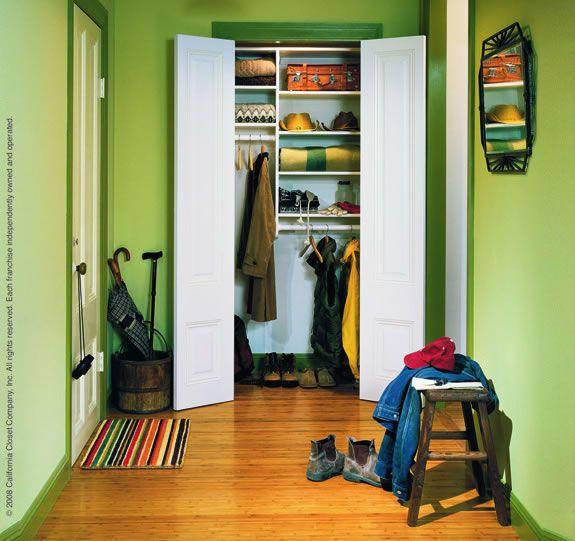 Top 25 Ideas About Entry Closet Organization On Pinterest