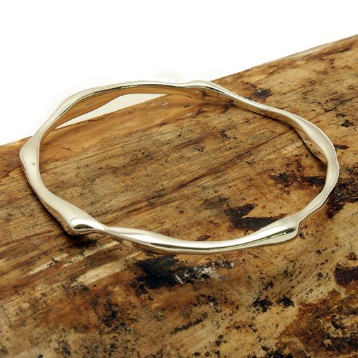 Andea Sterling Silver Sculptured Bangle - Simple yet stunning