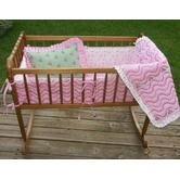 Found it at Wayfair - Summer Garden Pink and Green Cradle Bedding Collection