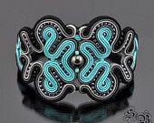 Soutache BraceletSoutache JewelryLapis lazuli par SBjewerlySoutache