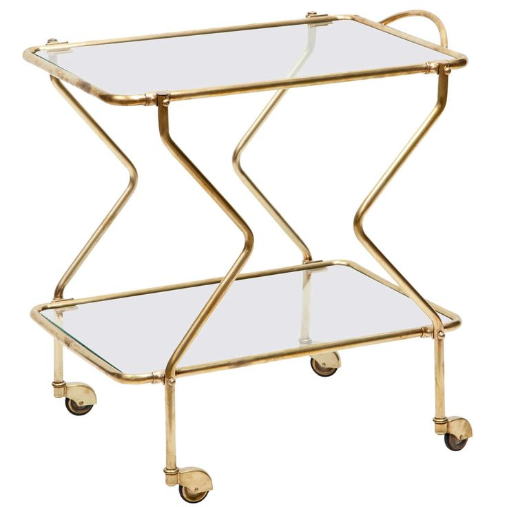 Brass Bar Cart   From a unique collection of antique and modern bar carts at https://www.1stdibs.com/furniture/tables/bar-carts/