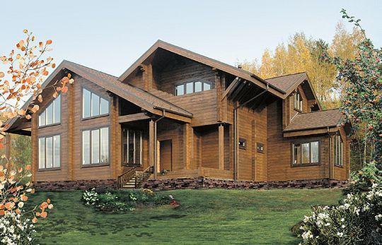 Внешний вид дома из профилированного бруса