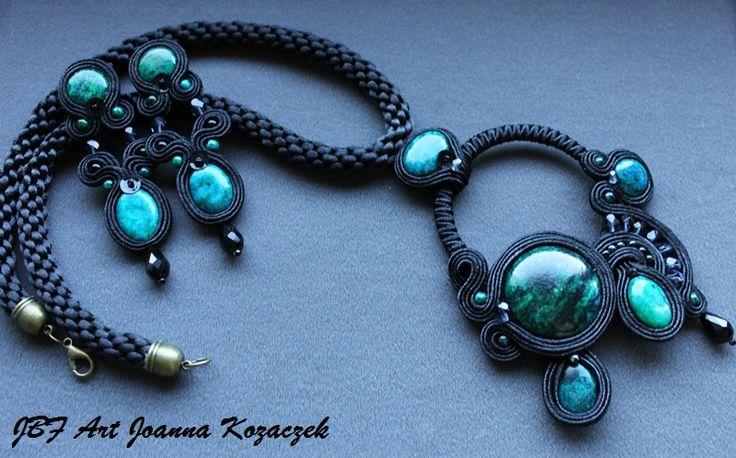 Soutache set earrings necklace - JBF Art