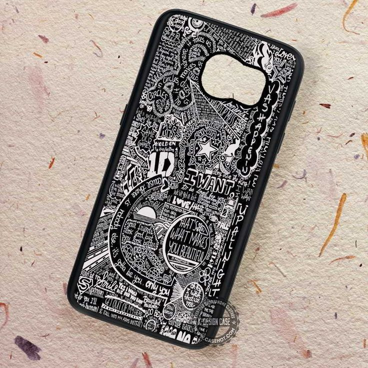 Black Board Lyrics Collage One Direction - Samsung Galaxy S7 S6 S5 Note 7 Cases & Covers