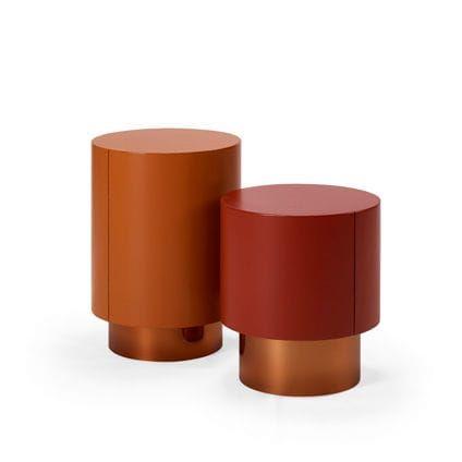 Contemporary side table / oak / walnut / ebony TOO METAL HMD Interiors