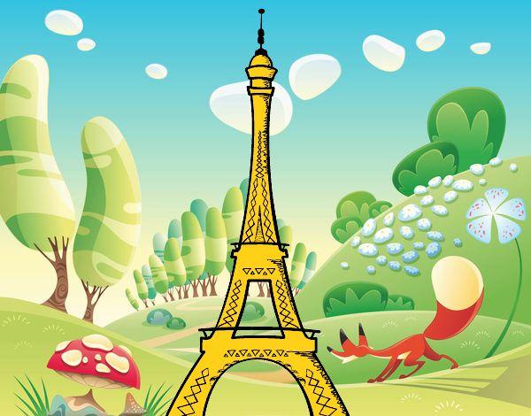 Ms de 25 ideas increbles sobre Dibujo de torre eiffel en