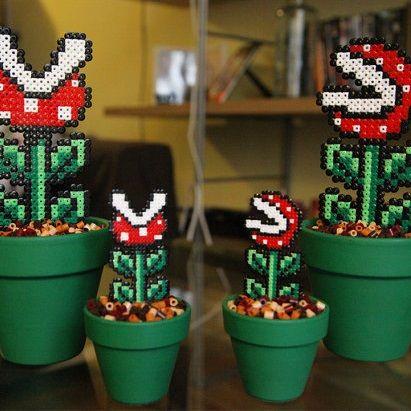 17 meilleures id es propos de hama beads mario sur for Les plantes decoratives