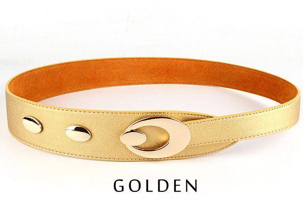 Wide Belts for Women Fashion Designer Women Dress Belts High Quality Leather Lady Belt Gold Crescent Buckle