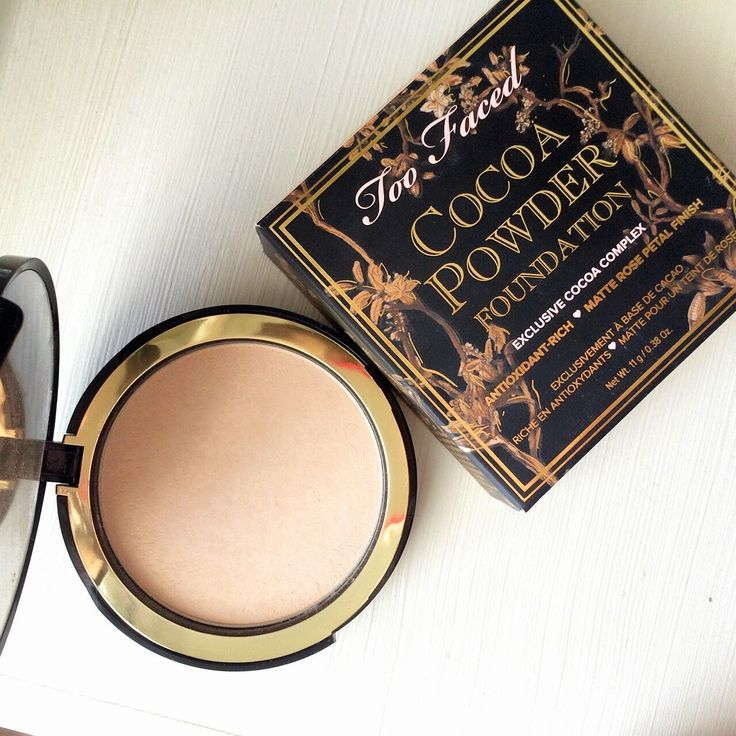 cocoa powder foundation #toofaced