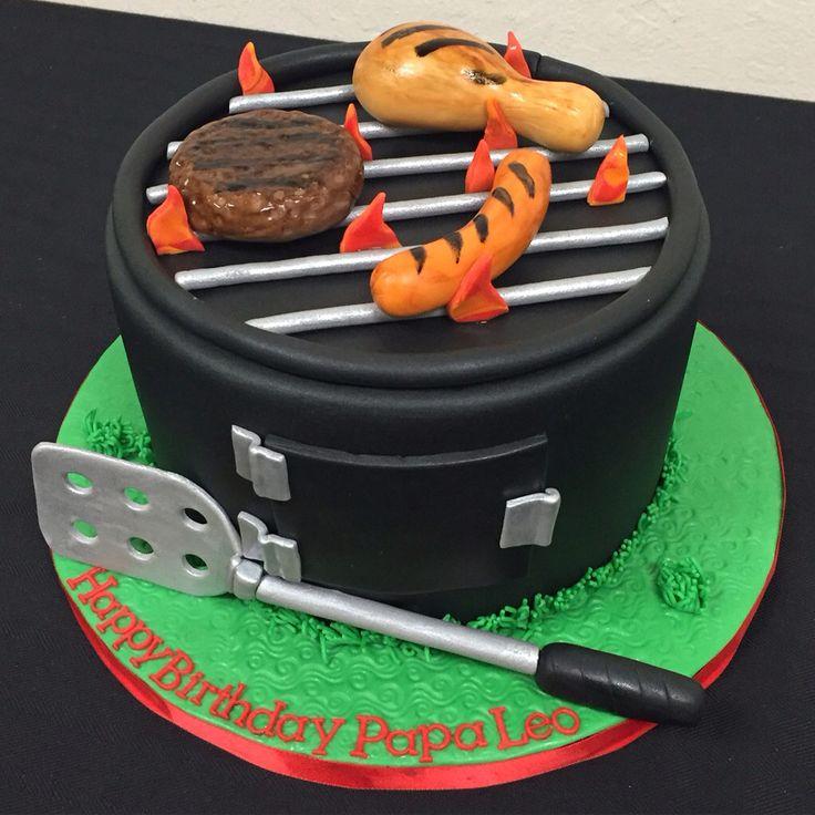 BBQ Grill fondant cake!  #manlycake