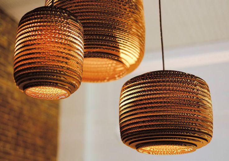 Lampe suspension / contemporaine / en carton SCRAPLIGHTS : AUSI graypants