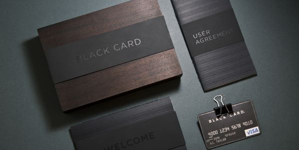 Visa Black Card - Aaron Trigg. One day when I'm big ill get one of these... although I am slightly more excited by the packaging then the card itself ;)