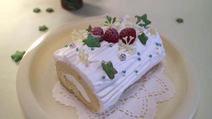 One-Egg White Bush de Noel 卵1個でブッシュドノエル 小さなクリスマスケーキ☆