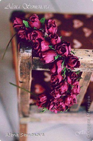 Украшение Флористика Выпускной Свадьба Моделирование конструирование Цветы из фоамирана в украшениях для волос Фоамиран фом фото 2