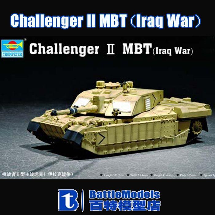 Трубач МОДЕЛЬ 1/72 КРУПНОМАСШТАБНЫЕ военные модели #07215 Challenger II MBT (Война в Ираке) пластиковая модель комплект