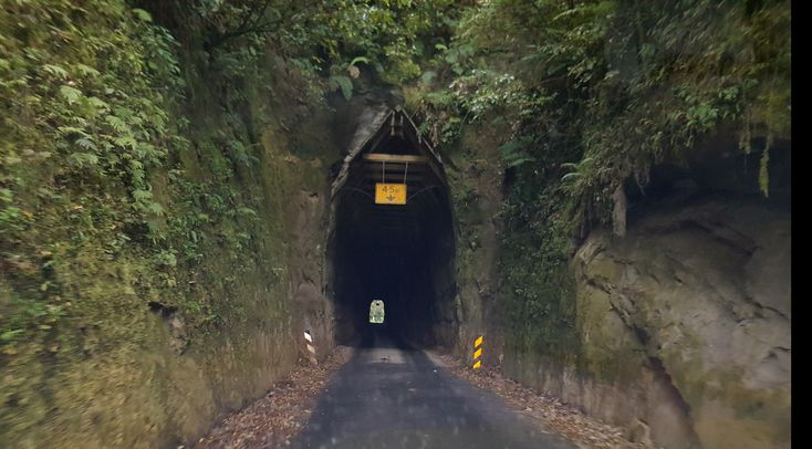 Approaching the tunnel on the Forgotten Highway