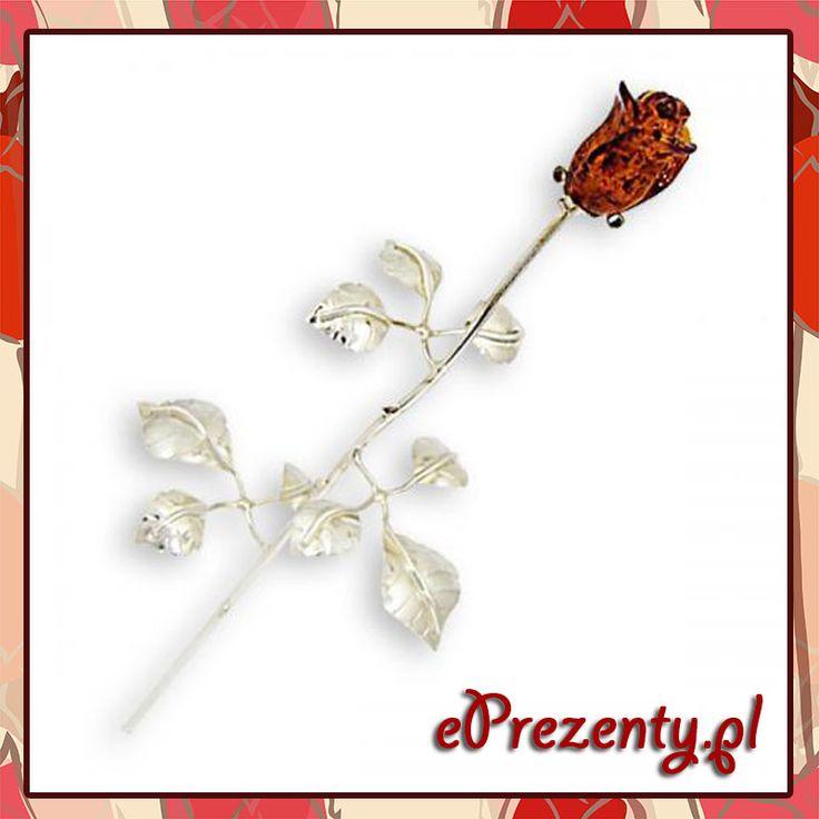 Wieczna #róża ze srebra i #bursztynu z możliwością wykonania pamiątkowego graweru! Prawda, że cudowny #upominek dla #eleganckiej #kobiety! http://bit.ly/wieczna_roza