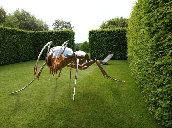Stainless Steel #sculpture by #sculptor Sebastian Novaky titled: 'Bioregulation 1 (stainless steel Big Ant statue)'. #SebastianNovaky