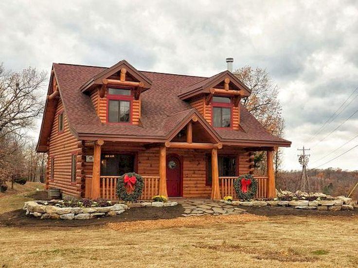 70 Fantastic Small Log Cabin Homes Design Ideas (5