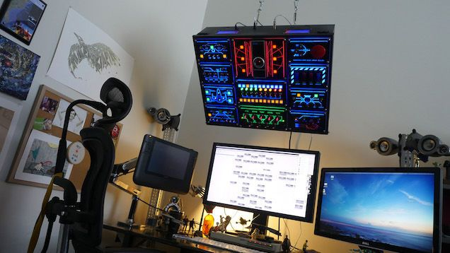 Sometimes, the best DIY projects are about excess. Which is exactly what Reddit user smashcuts went for in his computer control panel that controls everything from music to app launching.