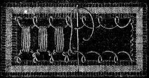 FIG. 709. INSERTION WITH BEAD STITCHES.