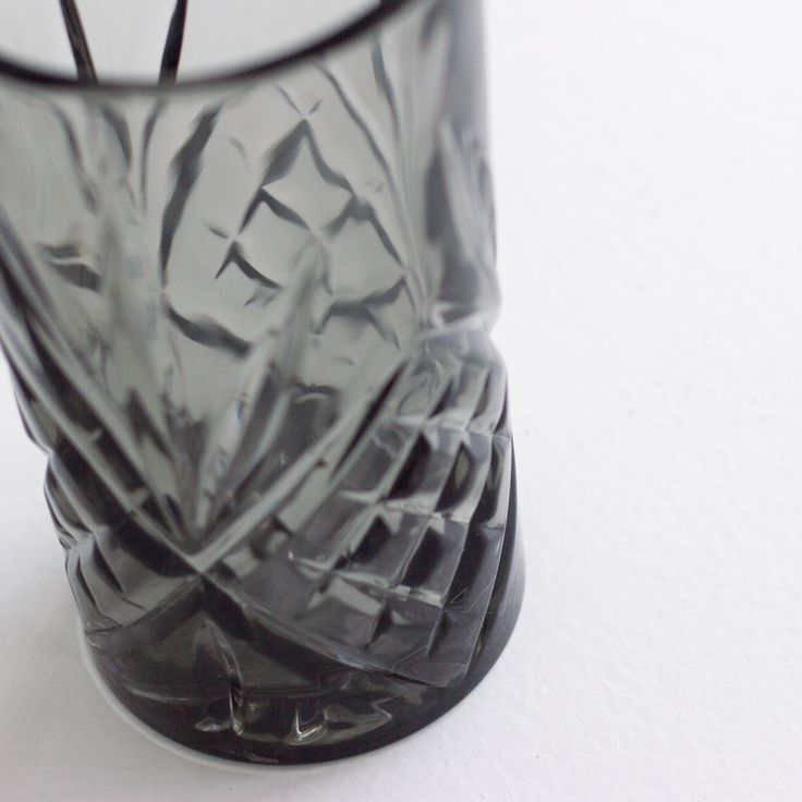 Tall Drinking Glass  - Grey - Love these ❤