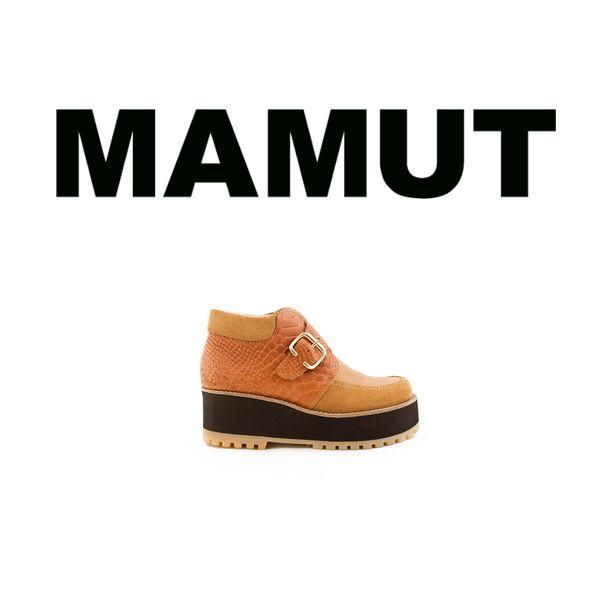 MAMUT SHOP - nuestro MAMUT sequoya es un sueco construido de cuero con detalles en charol. destacamos la tira en su talón con elástico y su suela de goma permitiéndole ser un zapato todo terreno. altura de taco 7,5 cm (3 pulgadas), altura de plataforma 3 cm (1.2 pulgadas)