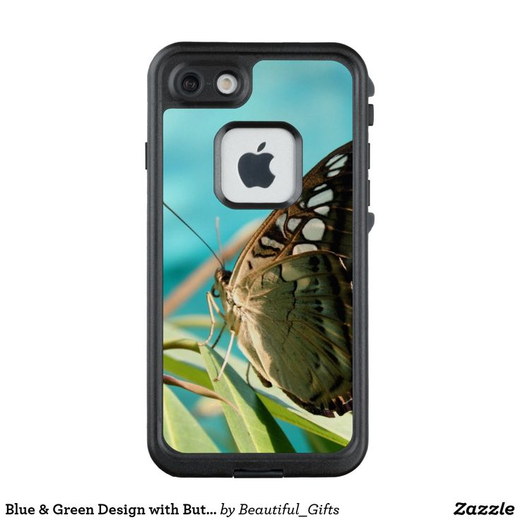 Blue & Green Design with Butterfly LifeProof FRĒ iPhone 7 Case