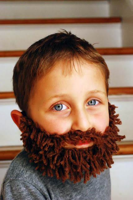 (kabouter)baard gemaakt van bruine wol Q-made: DIY Yarn Beard!
