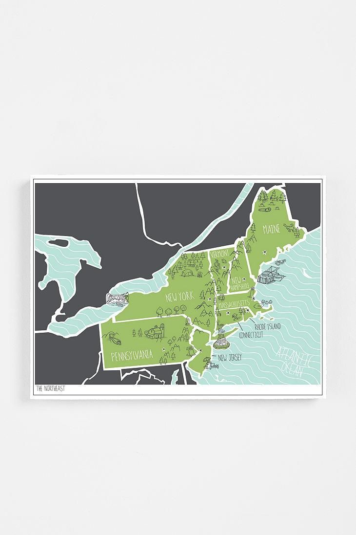 Rad regional map images each printed with