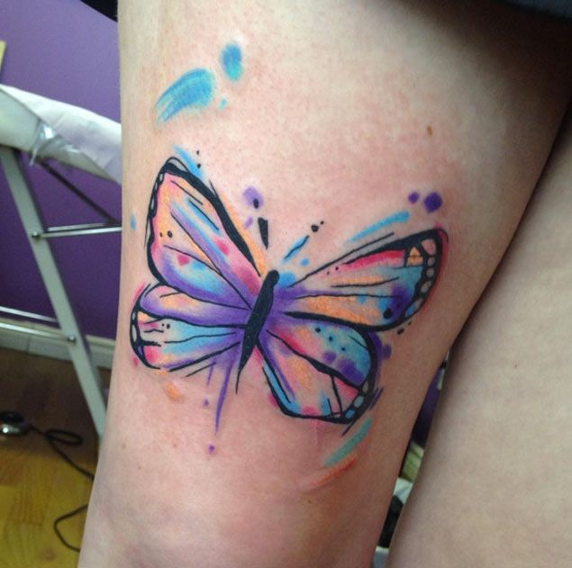 best 25 watercolor butterfly tattoo ideas on pinterest. Black Bedroom Furniture Sets. Home Design Ideas