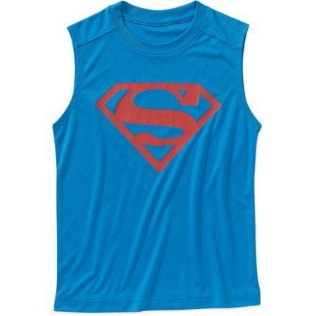 DC Comics Superman Boys Poly Tank Top, Blue