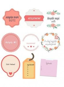 letölthető ANYÁK NAPI címkék ajándékokhoz