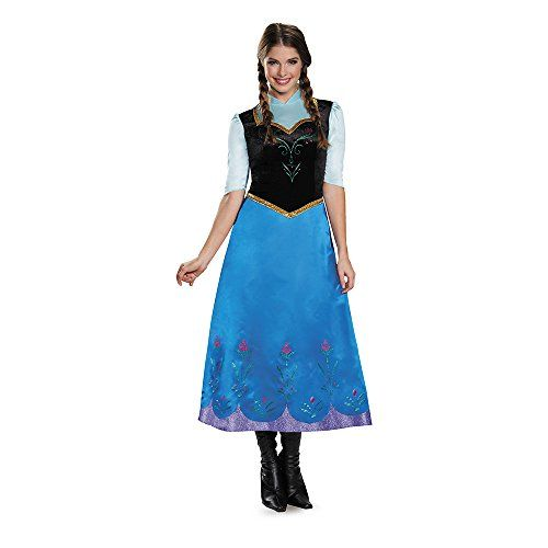 Disguise Women's Anna Traveling Deluxe Adult Costume Size XS - XXL (4/6 - 18/20) Standard / Plus Sizes