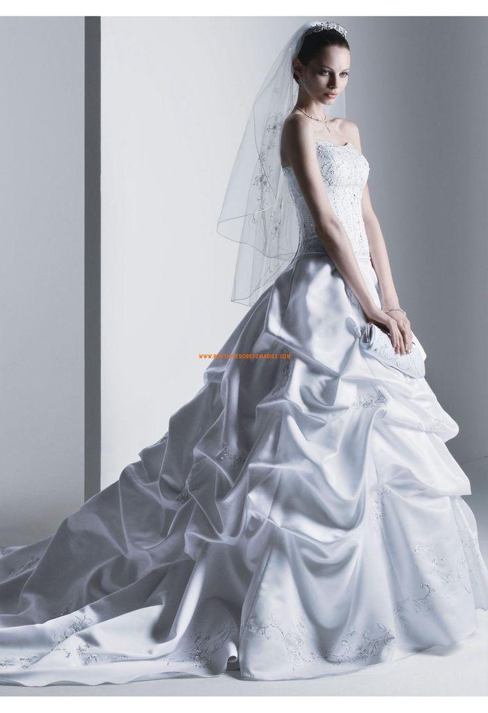 Robe de mariée coutureà bustier broderie drapés