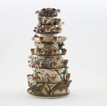 Ardmore Ceramics: Monkey Candlestick AAA