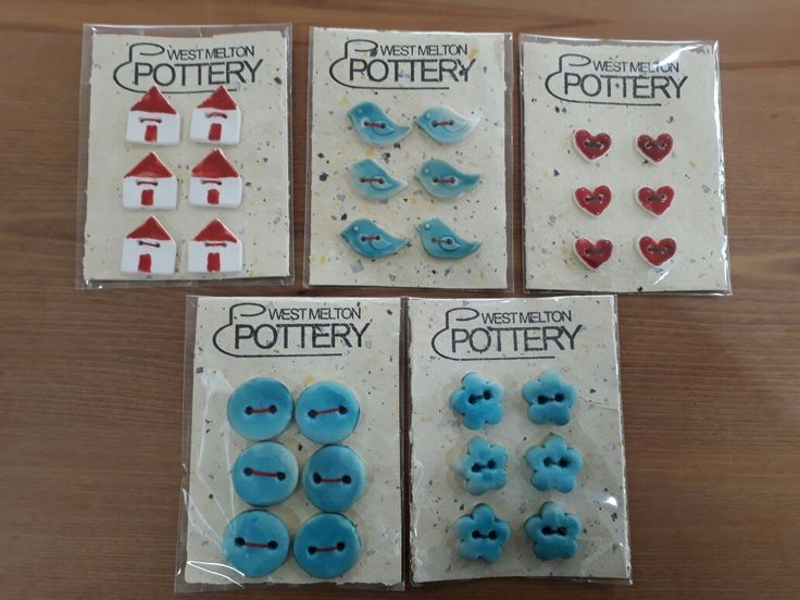 Buttons Sarah Handley West Melton pottery