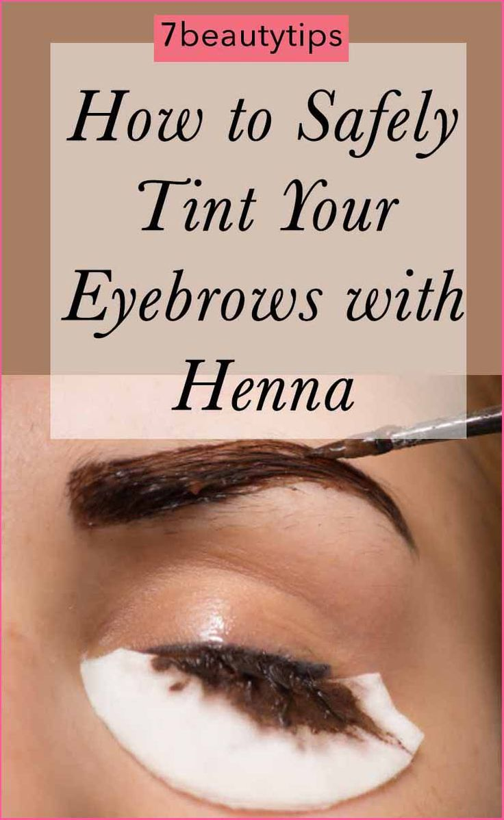 Tint your eyebrows with all natural henna