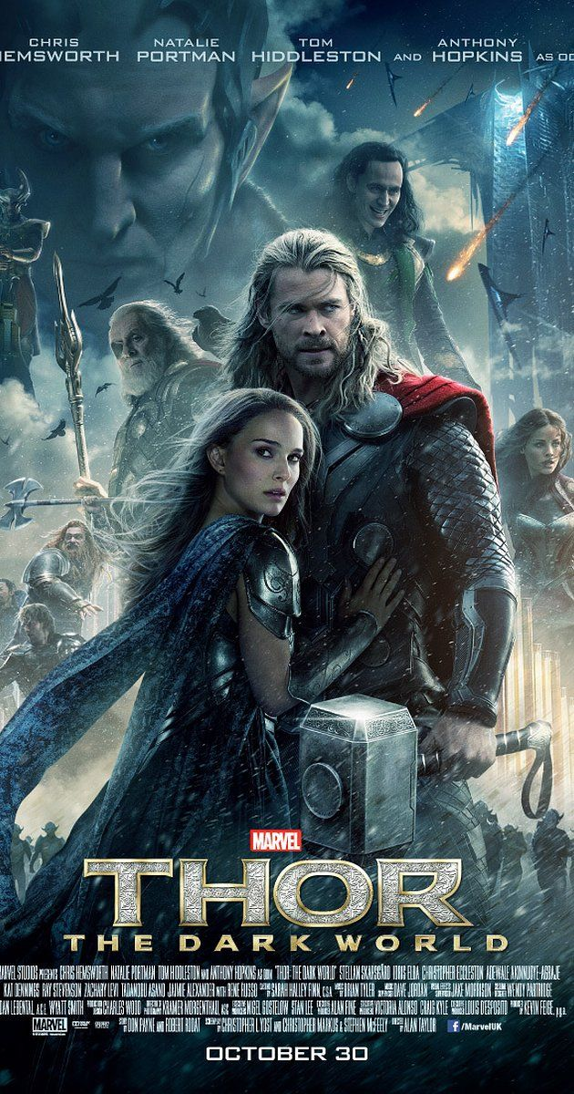 Directed by Alan Taylor.  With Chris Hemsworth, Natalie Portman, Tom Hiddleston, Stellan Skarsgård. When Dr Jane Foster gets cursed with a powerful object, Thor must protect it before an army and its ruthless leader try to get their hands on it to take over the remains of Earth.