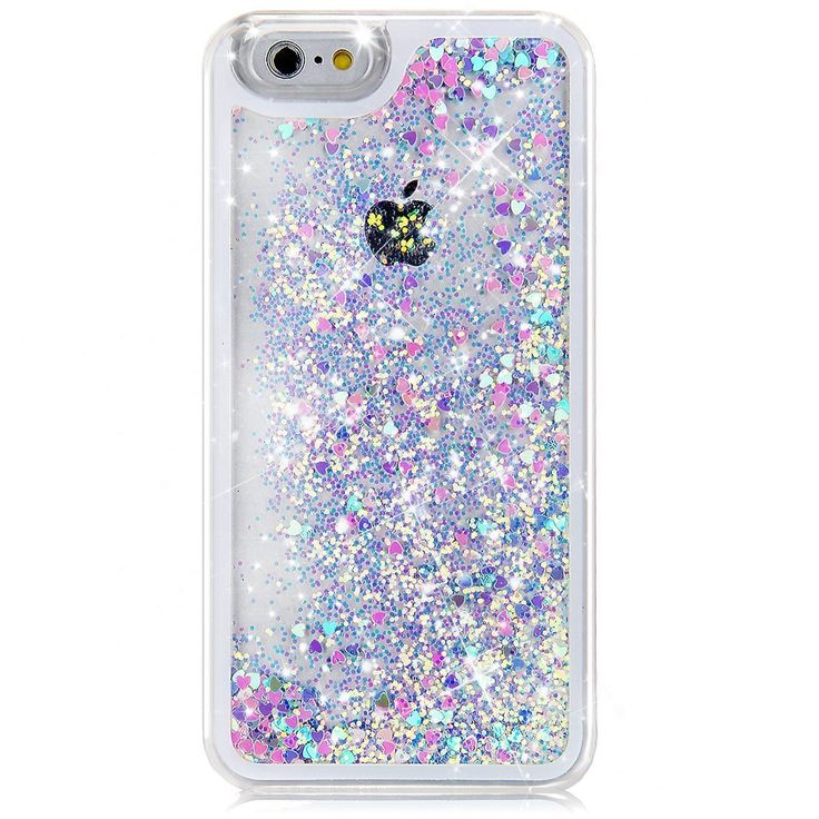 """Amazon.com: iPhone 6S Case, NSSTAR iPhone 6S Case 4.7"""",Liquid Case for iPhone 6S,Case for iPhone 6S,Hard Case for iPhone 6S, Fashion Creative Design Flowing Liquid Floating Luxury Bling Glitter Sparkle Love Heart Hard Case for Apple iPhone 6S (2015)/ iPhone 6 (2014) (Love:Blue+Pink): Cell Phones & Accessories"""