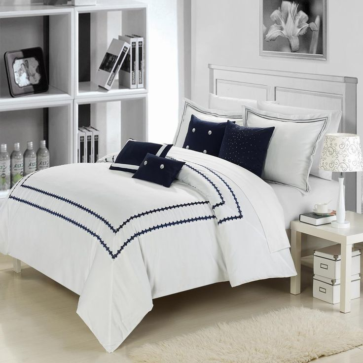 42 Best Navy White Bedroom Ideas Images On Pinterest Bedroom Ideas Bedrooms And Navy White