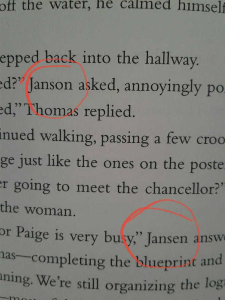 i had to re-read that chapter trying to figure out who they were talking abot! then i just told myself it was a typo