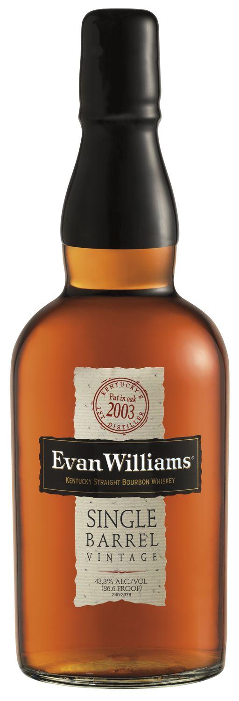 Evan Williams Single Barrel 2003 Vintage Bottle Shot