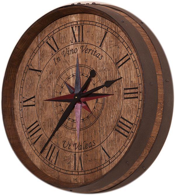 Best wine barrel clocks carved by ewoodart images on
